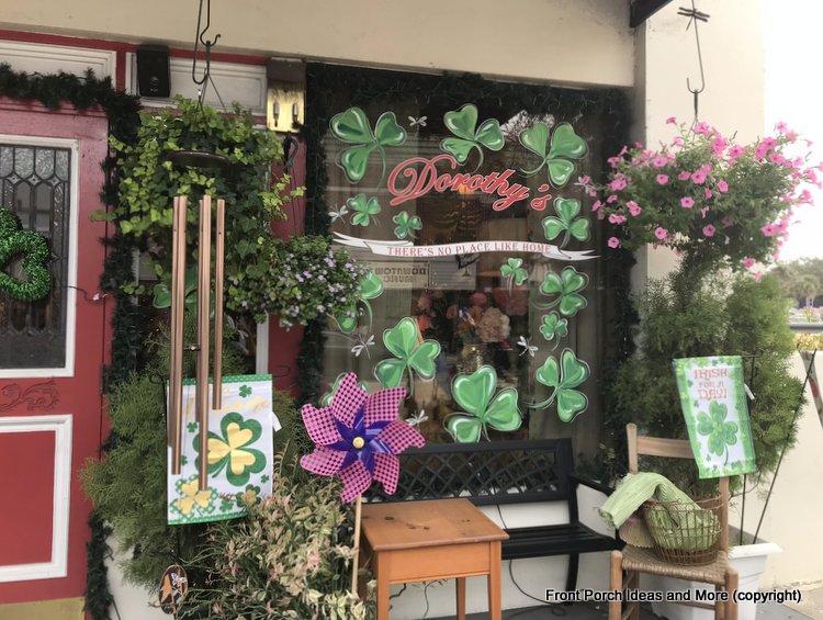 St. Patrick's Day decor at Dorothy's flower shop