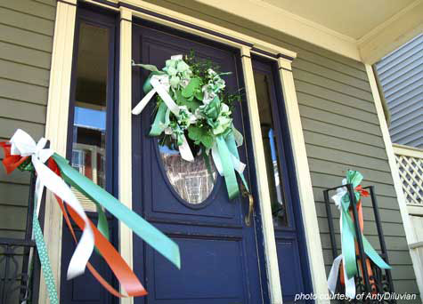 St. Patrick's Day decorations for your porch
