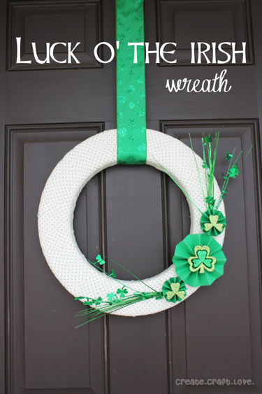 Completed St. Patrick's Day Wreath