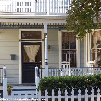 beautifully staged front porch to sell home