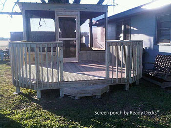 stand alone screen porch by Ready Decks