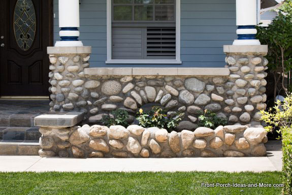 stone balustrade (railings) and stone planting retaining wall