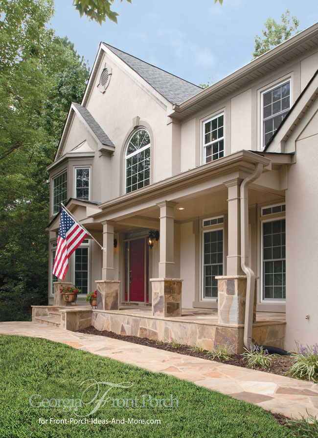 Stylish front porch designs for House plans with columns and porches