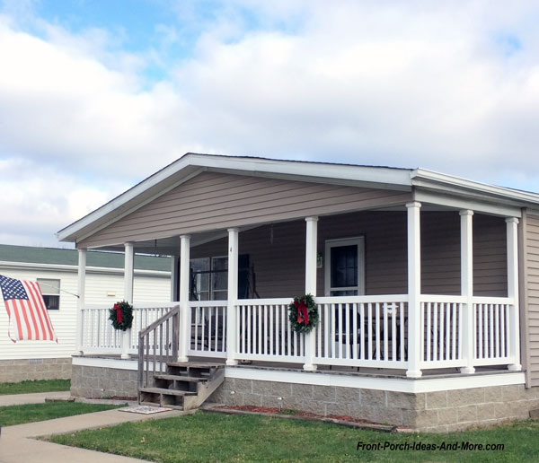 stone porch skirting on mobile home