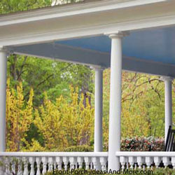 structural vinyl porch columns on home