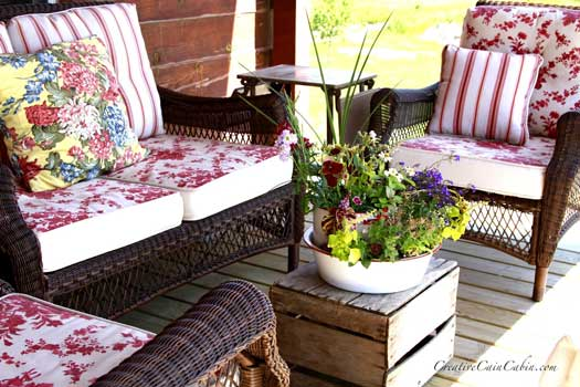 Beautiful summer porch