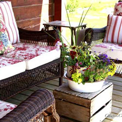 colorful porch furniture