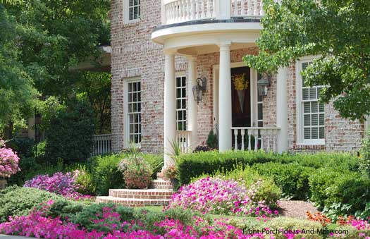 formal front porch with ionic porch columns