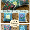 collage of pictures of pillow toppers for summer