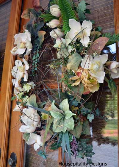 Shirley's wreath on front door