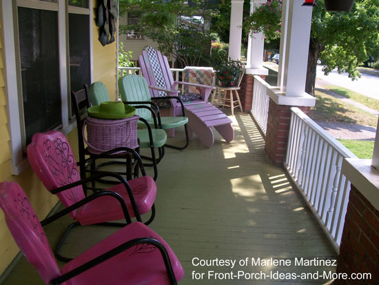 vintage furniture on porch