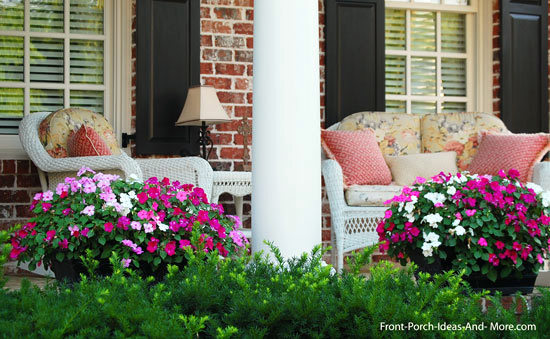 porch decorated for summer pleasure : front patio decorating ideas - www.pureclipart.com