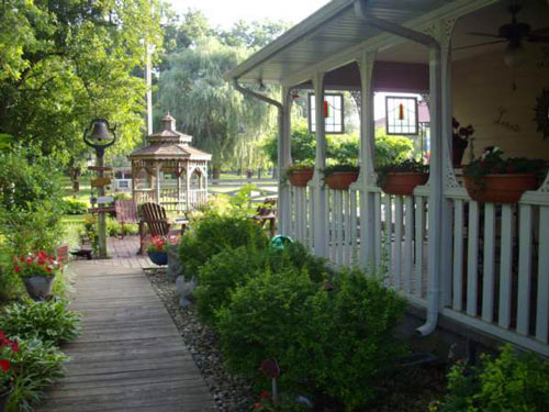 Summer side porch in Kansas