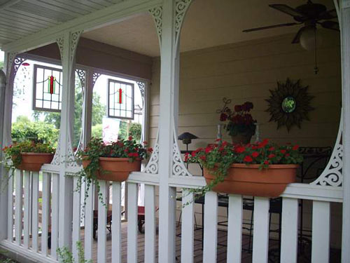 Summer side porch in Kansas