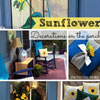sunflowers painted on pillows for front porch