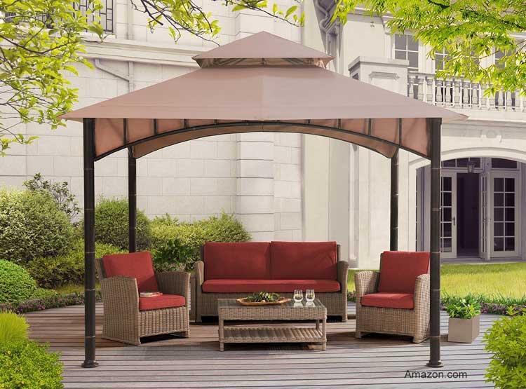 sunjoy gazebo 10x10 soft canopy