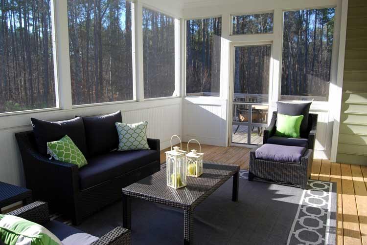 A comfortable sunroom