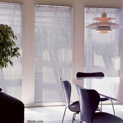 aluminum blinds as sunroom window treatments