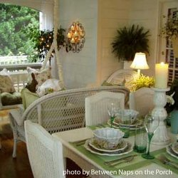 Susan's decorated screened porch