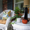 colorful autumn porch cushions