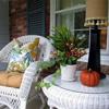 colorful autumn porch cushions