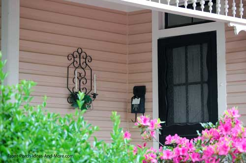 candle holders on front porch in Tarboro NC