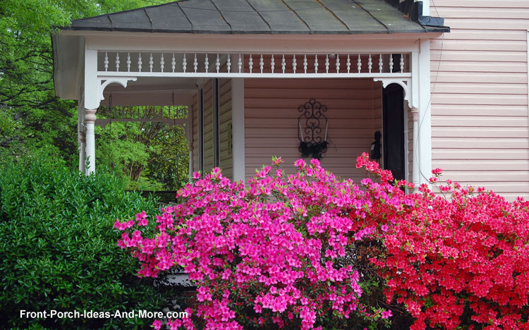 beautiful foliage in front of front porch
