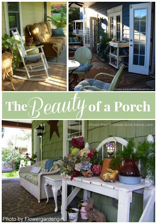 beautiful porch collage