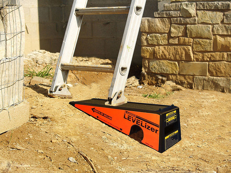 The Levelizer in use under ladder