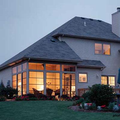 three season porch windows on home