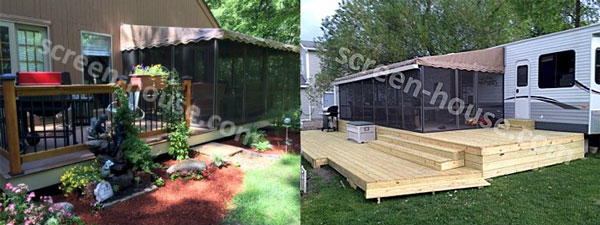 two three sided screen porch enclosures by screenhousesunlimited.com