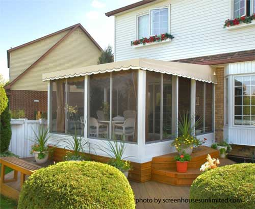 Beautiful A Screen Porch Kit With Vinyl Roof