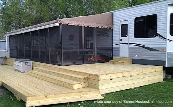 Mobile home porch kit joy studio design gallery best for Modular screen porch