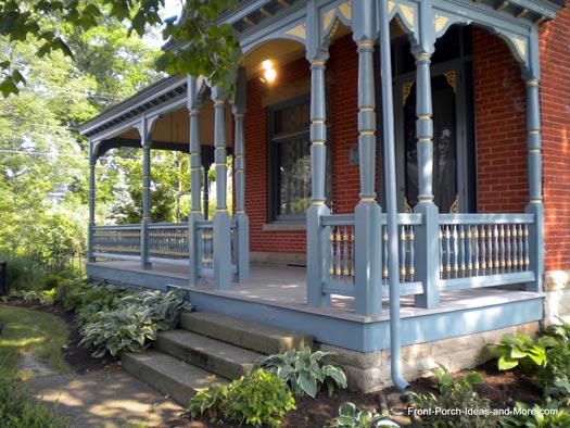 Tiffin ohio front porch ideas front porch pictures for Architectural gingerbread trim