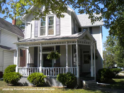 Traditional porch style in Tiffin Ohio