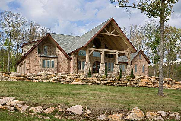 contemporary log home  - photo courtesy of Roger Wade Studios