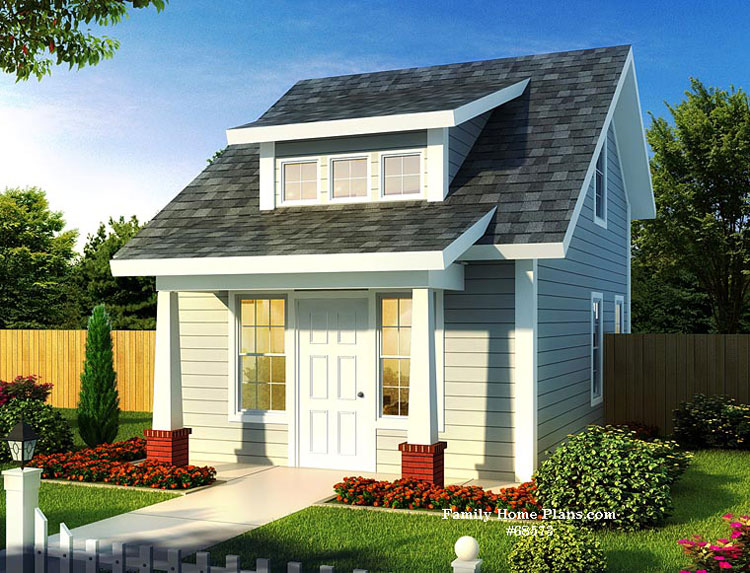 Compact small home with fantastic porch  available at FamilyHomePlans com affiliate link Tiny House Designs Plans DIY