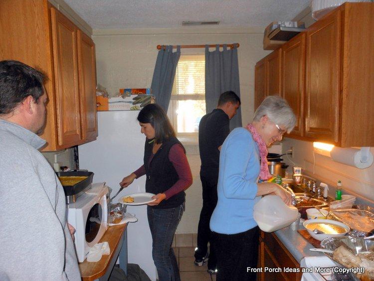 tiny kitchen at the at cabin