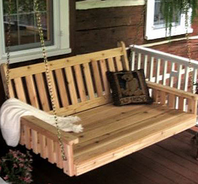 traditional style porch bed swing by porchswing.com