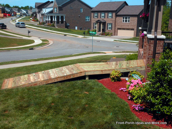 treated lumber residential wheel chair ramp