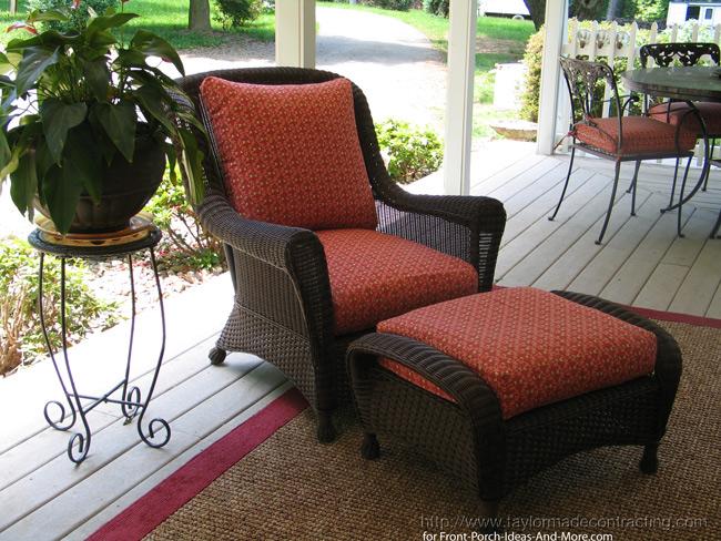 Trex decking on large wrap around front porch