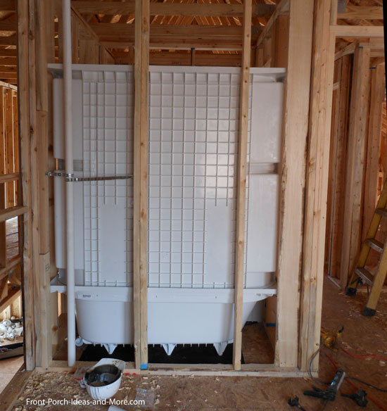 back of of tub shower combination