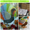 wooden thanksgiving porch decoration