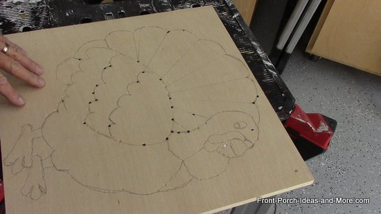 pattern transfered to plywood