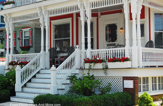 Front porch railings options designs and installation tips traditionally sized turned porch railings solutioingenieria Choice Image