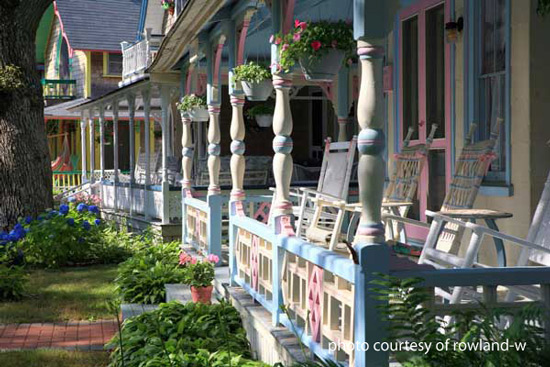 Decorative turned columns - Martha's Vineyard