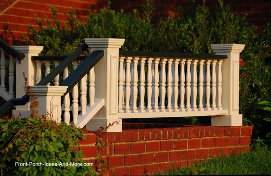 classic turned porch railings