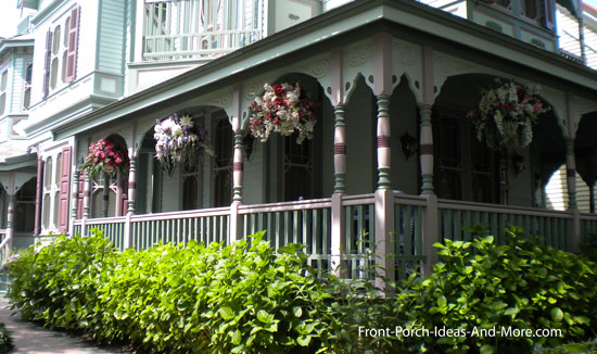 victorian home with decorative turned wood porch posts