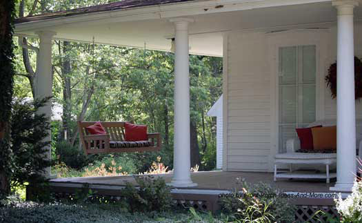 tuscan columns on open country porch