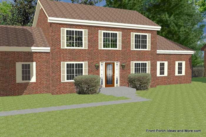basic two story home - brick